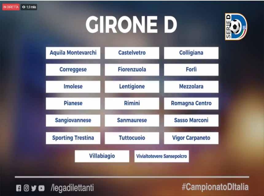 Serie D Girone D Calendario.Serie D Finito Il Toto Girone Per Le Umbre Raggruppamento D